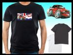 KOOLART CLASSIC BRITISH Design for Retro Mk3 Ford Escort XR3i mens or ladyfit t-shirt